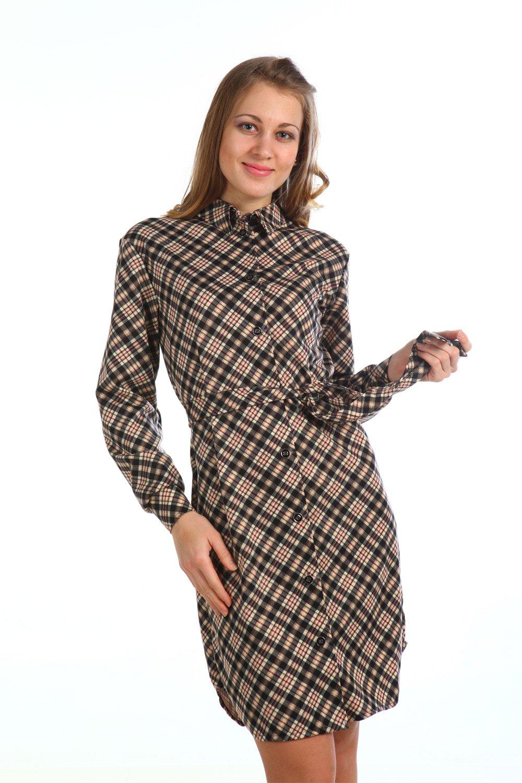 Платье рубашка трикотаж
